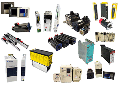 We buy Servo motor, drives, amplifiers, HMI's, safety sensors, power supplies