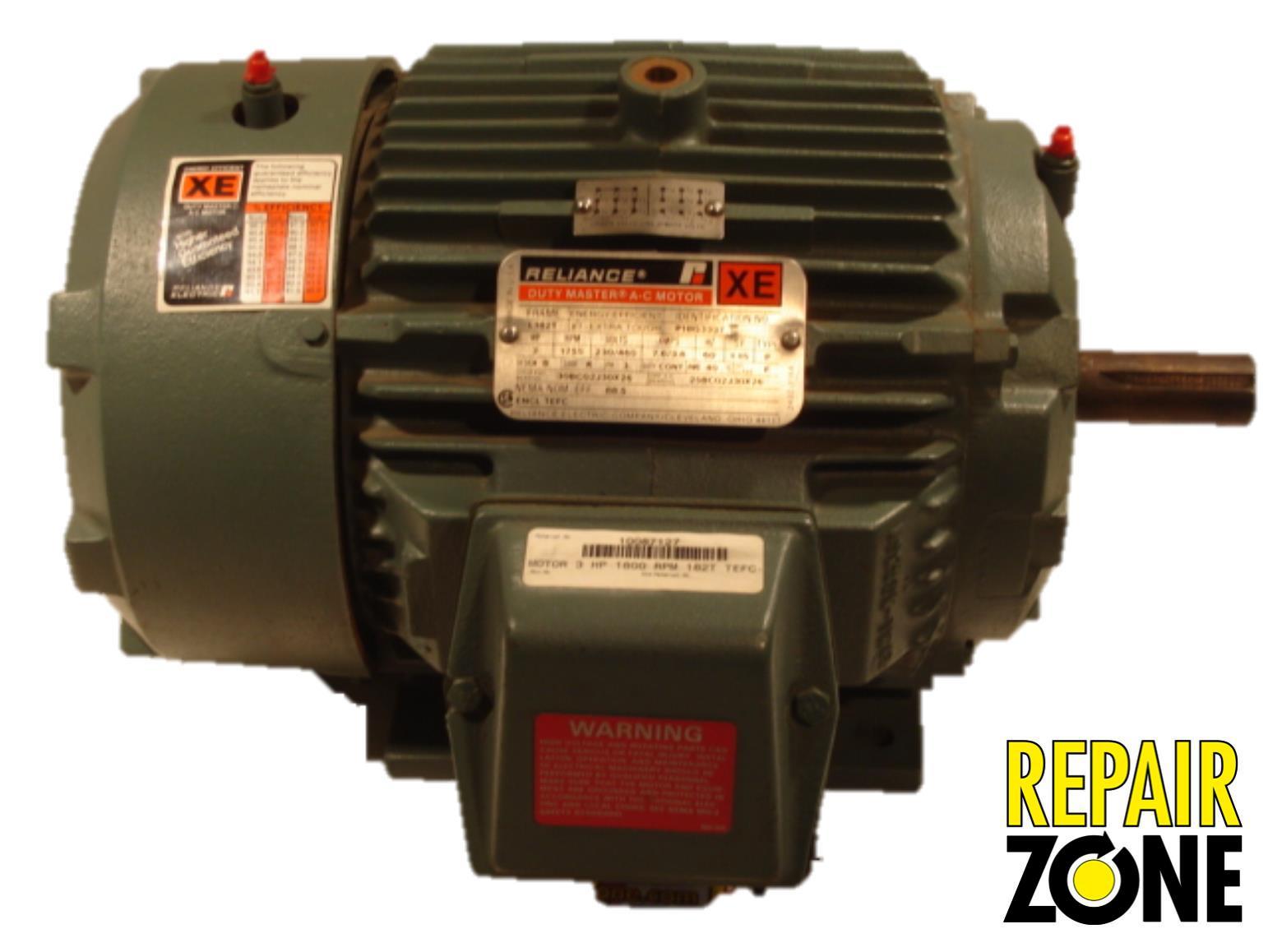 P18g3337 reliance three phase motors new ebay for 3 phase motor troubleshooting
