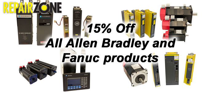 15% OFF ALL FANUC PRODUCTS