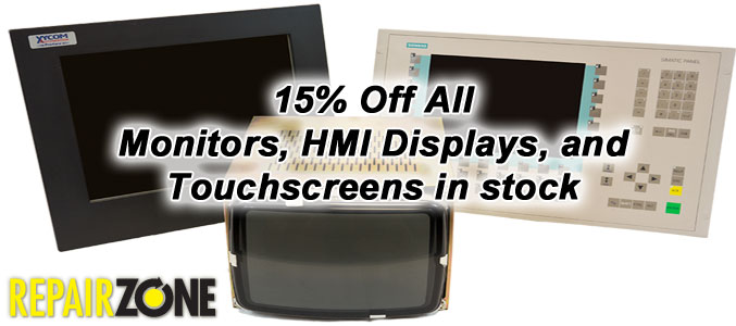 15% Off ALL monitors and HMI displays, touchscreens in stock